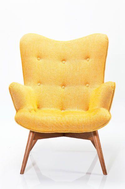 Πολυθρόνα Angels Wings Rhythm Mustard Μια κομψή και μοντέρνα πολυθρόνα, με ξύλινο σκελετό και υφασμάτινη επένδυση, 51% Viscose , 33% PA, 13% Linen.