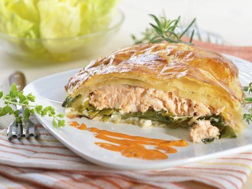 Recette Feuilletés saumon poireau, notre recette Feuilletés saumon poireau - aufeminin.com