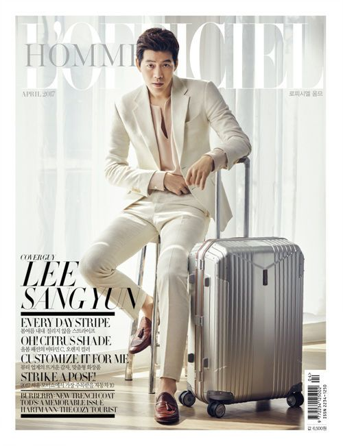 L'officiel Hommes Korea Magazine April 2017 K-Drama Actor Lee Sang Yoon Cover