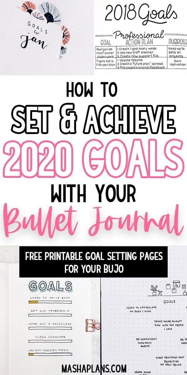 How To Set Goals In Your Bullet Journal Bullet Journal Work