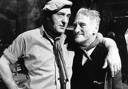 Steptoe and Son-1960s The show followed the exploits of two aging 'rag and bone' men - junk dealers who sparr and bicker amid the detritus of their livesAspirational Harold has pretensions of sensitivity and sees himself as a man of culture, only tragically thwarted by his circumstances and the burden of his irascible father. The wiley Steptoe, who is several degrees sharper than his son, is a canny old sod and somehow always manages to get the better of the hapless Harold.