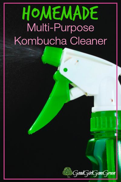 1/2 Kombucha     1/2 Water     Juice of a lemon     10 drops of essential oils of choice Lavender and/or Thieves Add all the ingredients to an old glass spray bottle and shake Give it a good shake before using.