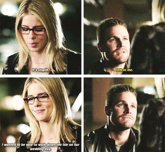 """I wanted to be able to walk down the aisle on our wedding day"" - Felicity and Oliver #Arrow"