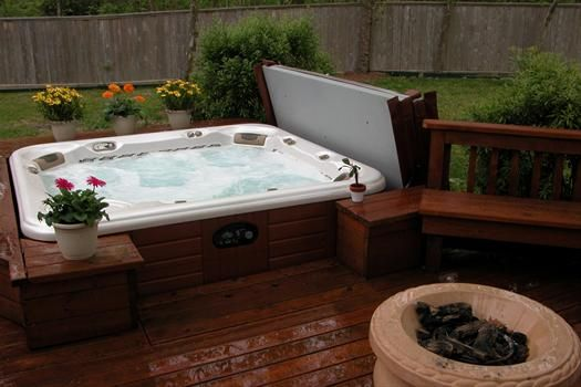 16 Best Images About Spa On Pinterest Hot Tub Deck Fire