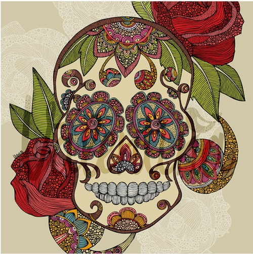 sugar skull drawing | Tumblr | Ink | Pinterest
