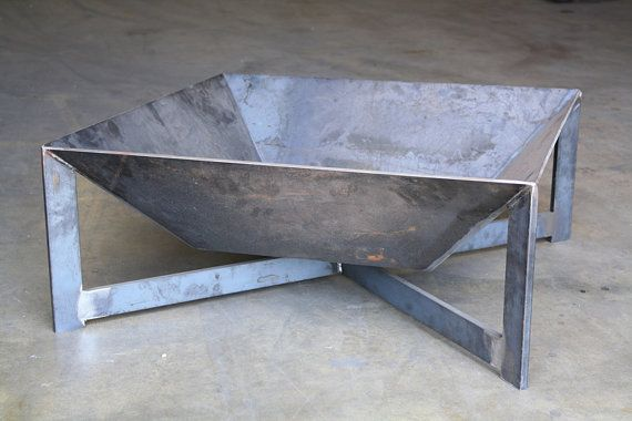 The Open Fin Fire Pit by boldmfg on Etsy