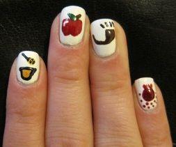 Rosh Hashanah nails!: Nails Art, Nails Design, Nails Ideas, Nails Decals, Sweet Nails, Roshe Hashanah, New Years, Honey Bees, Holidays Nails