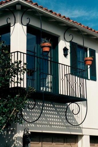 Spanish style iron balcony...