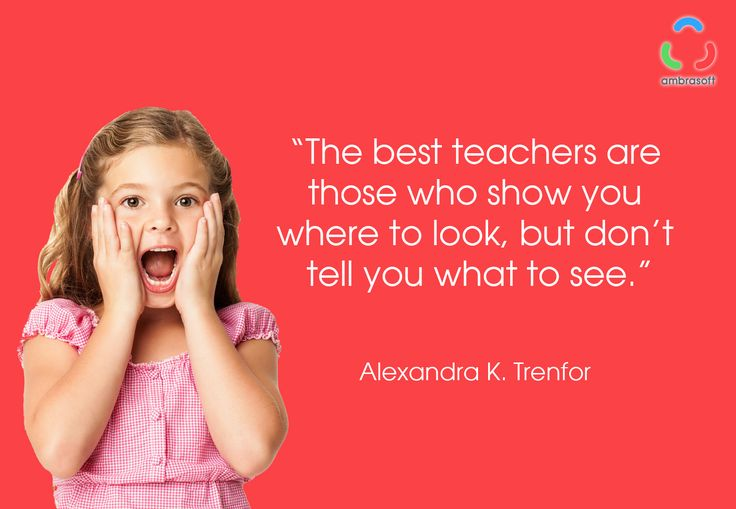 Quote van Alexandra K. Trefor: 'The best teachers are those who show you where to look, but don't tell you what to see.'