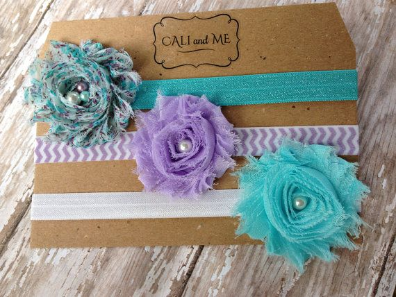 Headband Package of 3. Baby Headbands. Purple by CaliandMeBoutique, $11.95