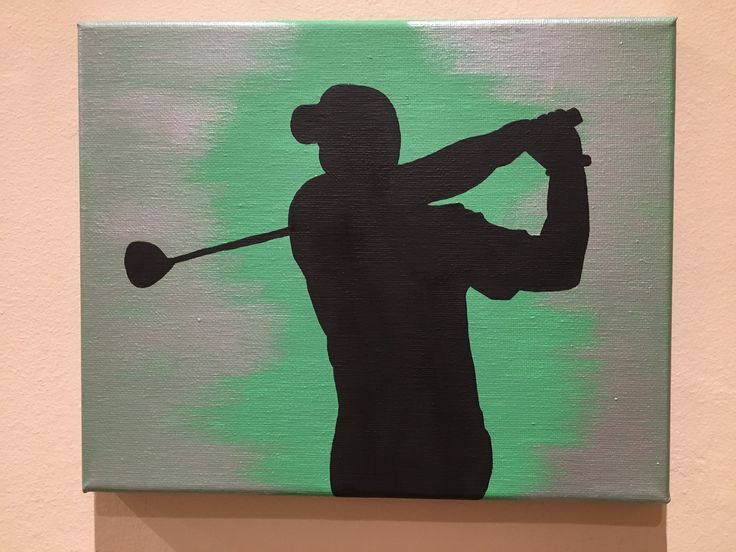 Golf sports canvas painting art