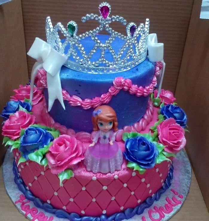 Two Tier Princess Sofia Cake Keyera S 2nd Birthday