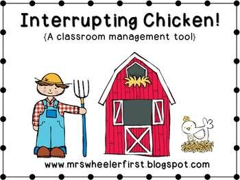 Teach your young ones about interrupting with this fun story and activity! To see how I use this activity in my classroom, click the blog link below! Interrupting Chicken Blog Post