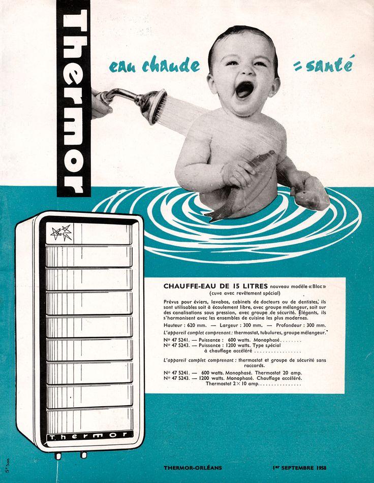 Chauffe-eau Thermor, modèle Bloc 15L - 1958