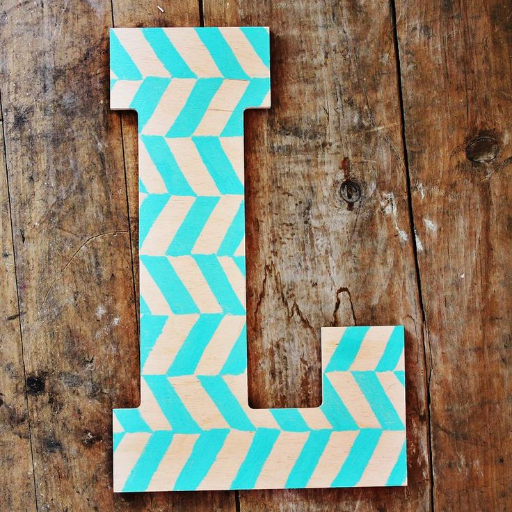painted wooden letters diy herringbone stamp craft amp diy 23887 | c9d25e17cfc594573b34dca4f9a61d68