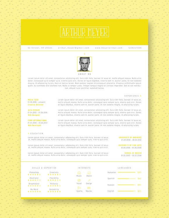 Professional Resume  Cv Template Creativework  Resume