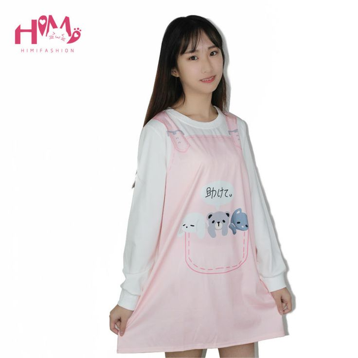 Autumn New Collection Women Fake Two Piece Dress Cartoon Printed Japanese Letters Soft Sister Super Cute Lovely Young Girl Dress