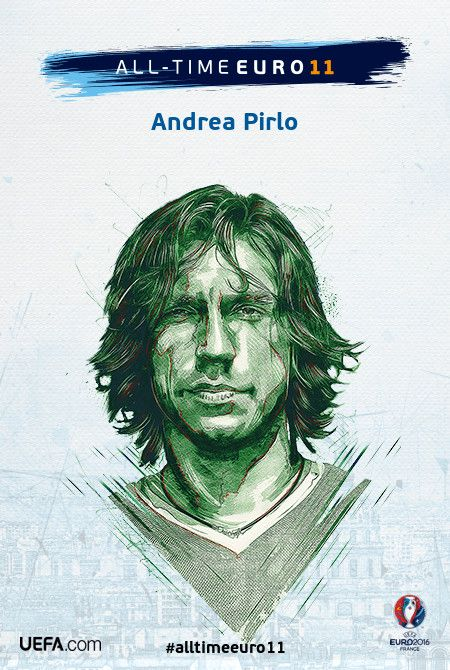 Andrea Pirlo - All-time EURO 11 Nominee