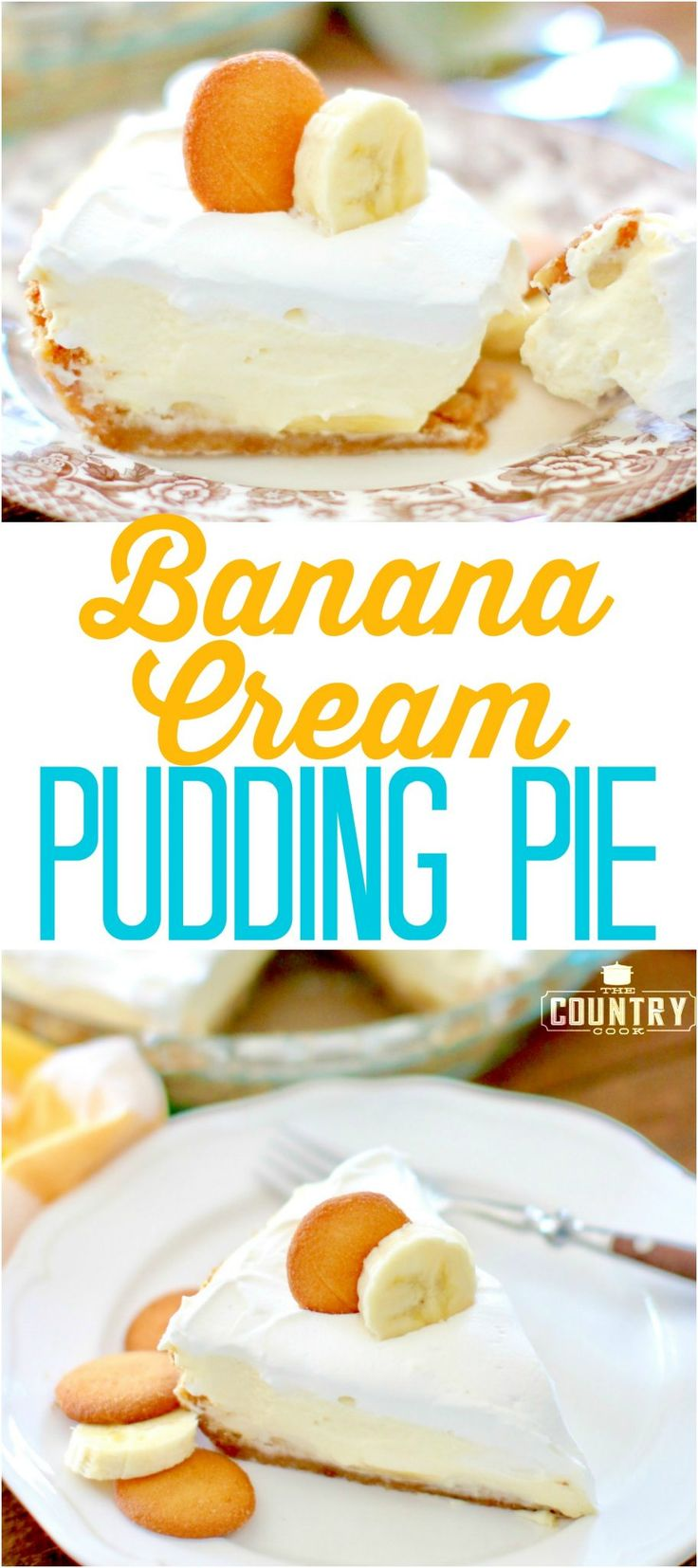 Banana Cream Pudding Pie recipe from The Country Cook