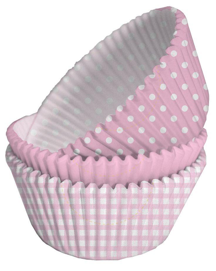 75 moules cupcake papier rose et blanc  et un choix immense de décorations pas…