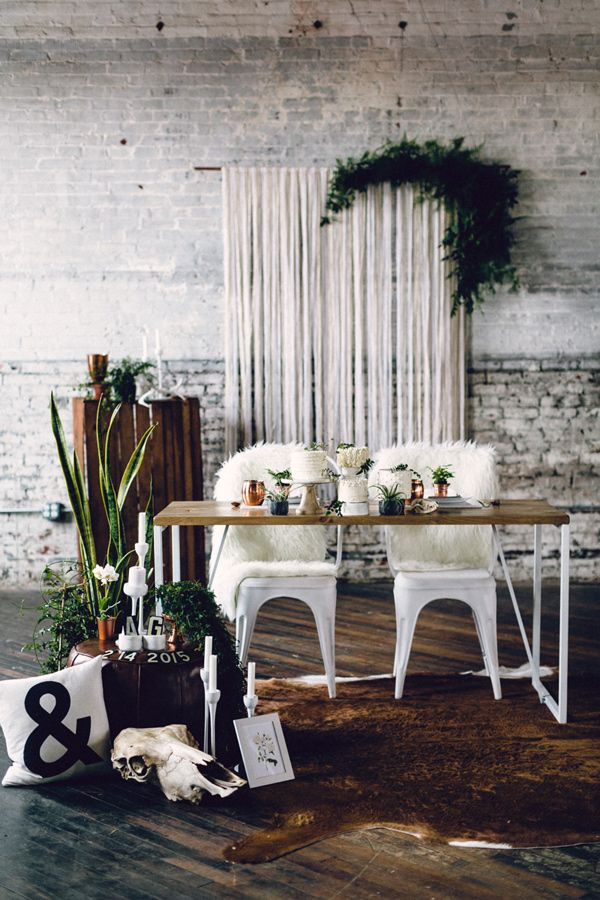 Nordic industrial wedding inspiration - photo by Danfredo Photos   Film http://ruffledblog.com/nordic-industrial-wedding-inspiration