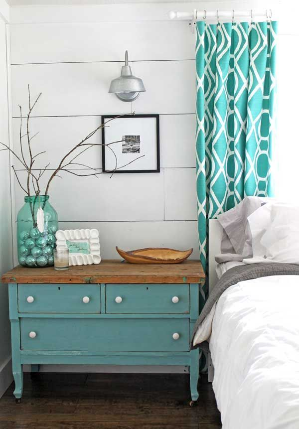 Lots of decorating inspiration in this DIY master bedroom decorated in a quirky, modern farmhouse style. Fun decor with lots of do it yourself projects.