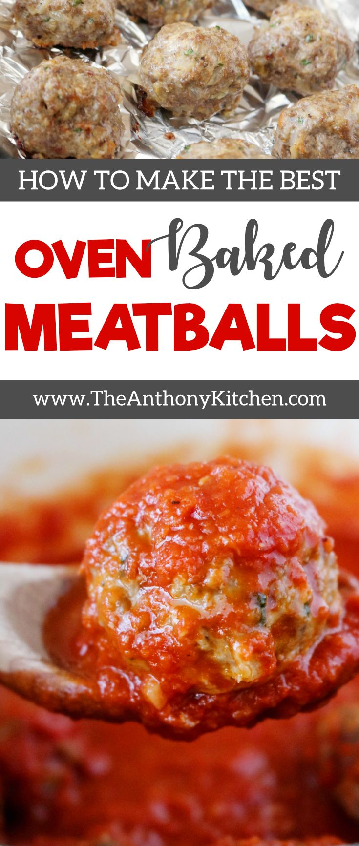 Easy Baked Meatball Recipe | A simple and easy recipe for Italian-style meatballs, made with ground beef and fresh breadcrumbs. Plus, how to make fresh breadcrumbs | #easymeatballrecipe #kidfriendlydinner #homemademeatballs #comfortfooddinner