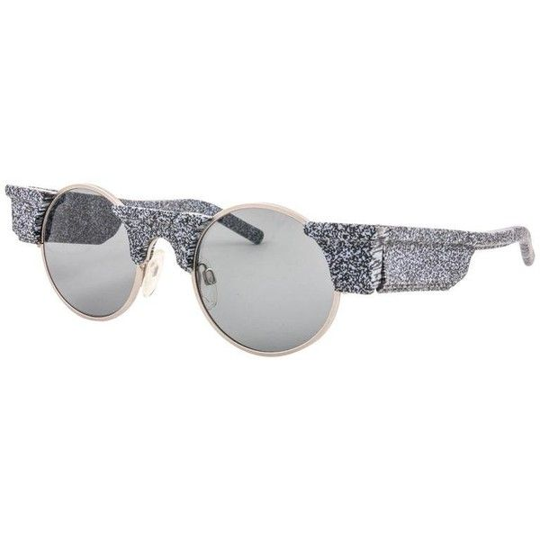 New Vintage Karl Lagerfeld Round Grey Marble 80's Made In Germany... ($905) ❤ liked on Polyvore featuring accessories, eyewear, sunglasses, vintage sunglasses, sport glasses, vintage round sunglasses, sports eyewear and sport sunglasses
