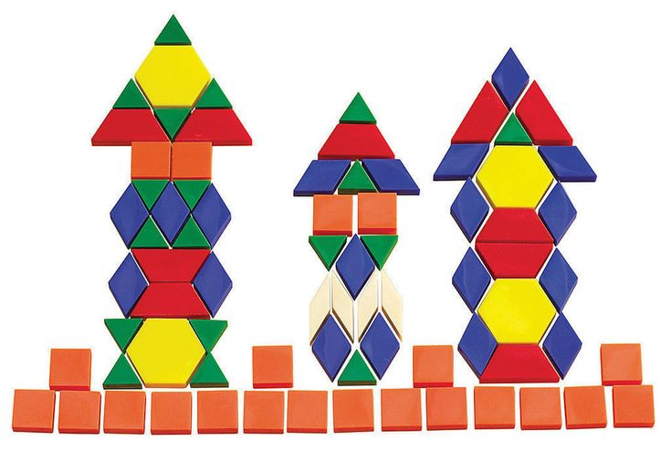 250 Solid Pattern Blocks for Maths Different Colours Geometry Fractions Area