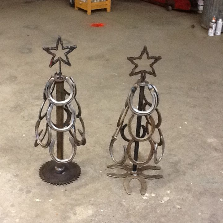 Christmas Trees Made of Horse Shoes