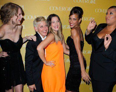 Drew Barrymore, Ellen DeGeneres, Queen Latifah, Dania Ramirez and Taylor Swift