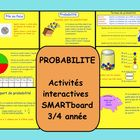 This is a Smart Notebook 11 file.  There are 7 pages in this file.  Students have an opportunity to work through different probability activities. ...
