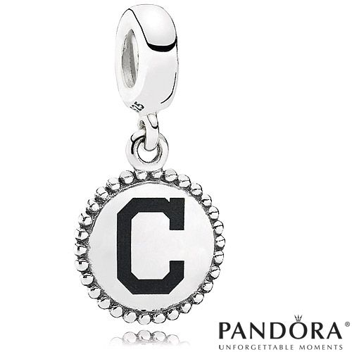 Shop Pandora Jewelry Online: Cleveland Indians MLB Dangle Unforgettable Moment Charm By