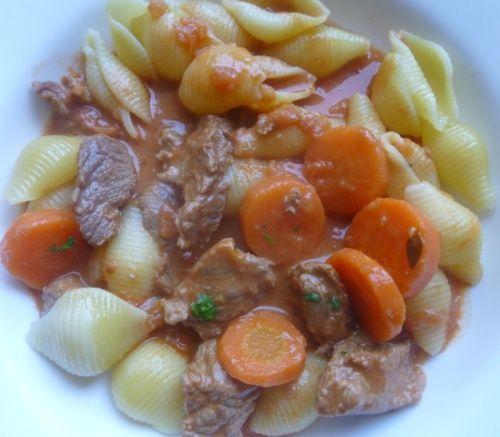 sauté de veau carottes/tomates
