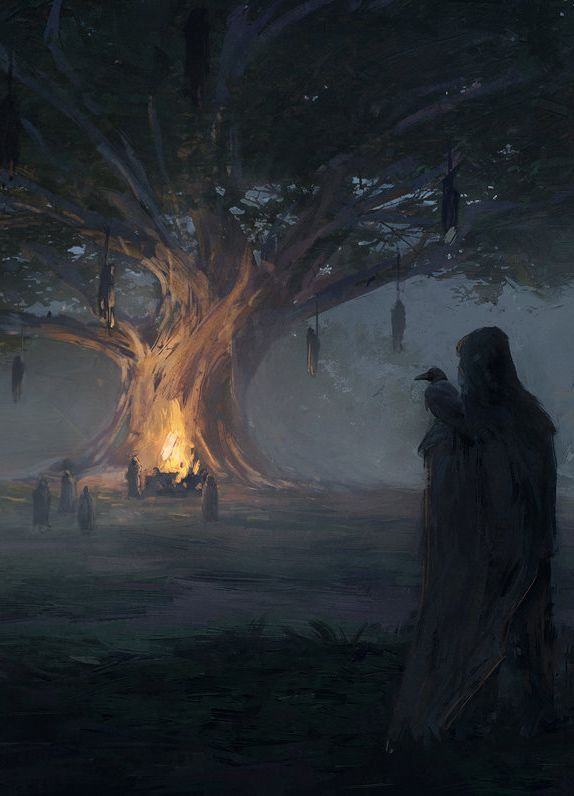 "fantasyartwatch: "" Gathering at Odin's Tree by Mateusz Katzig """