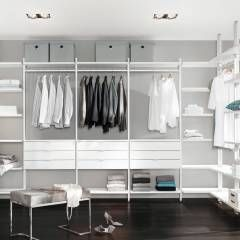 die besten 25 begehbarer kleiderschrank regalsystem ideen auf pinterest begehbarer. Black Bedroom Furniture Sets. Home Design Ideas