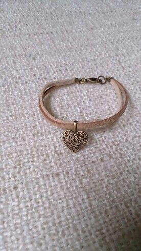 Bracelet coeur filigrane
