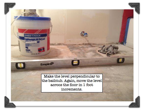 Level Out Bathroom Floor : My super secret way to install bathroom floor tile part
