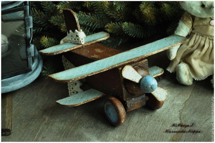 """Купить Деревянные ретро игрушки """"Винтажное Рождество"""" - игрушки, ретро, винтаж, горошек, деревянные игрушки"""