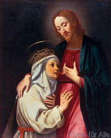 Santi di Tito - Die Heilige Katharina von Siena trinkt das Blut Christi