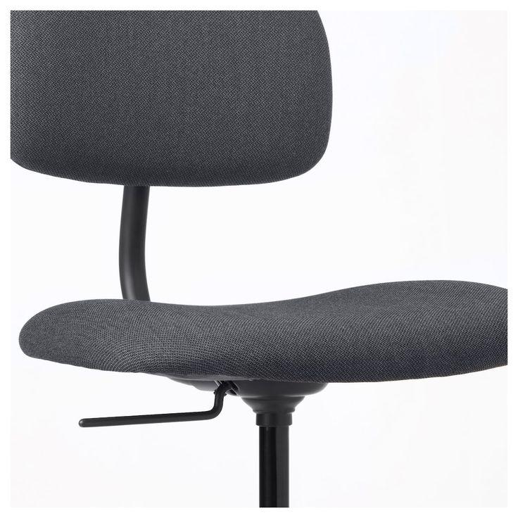 Bleckberget swivel chair idekulla dark gray ikea