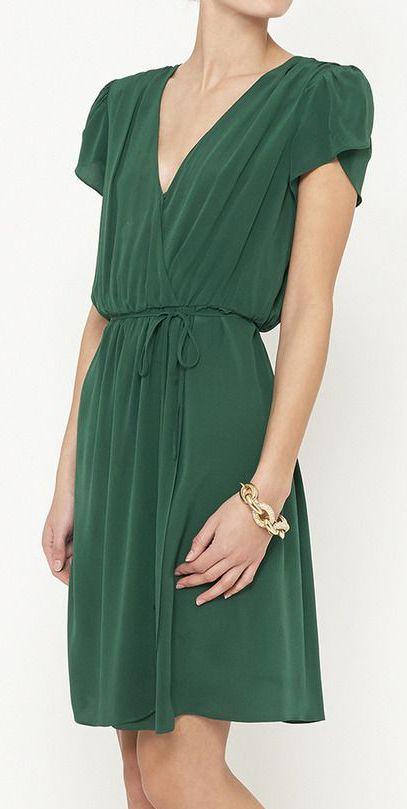 Beyond Vintage Hunter Green Dress