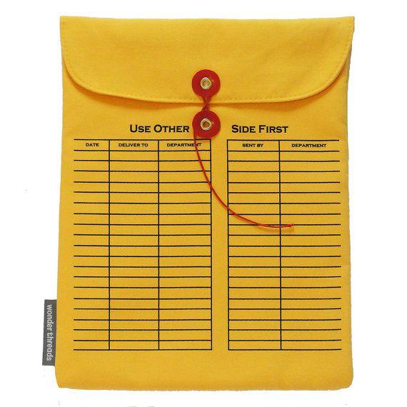 iPad Sleeve Interoffice Envelope by wonderthreads on Etsy, $30.00