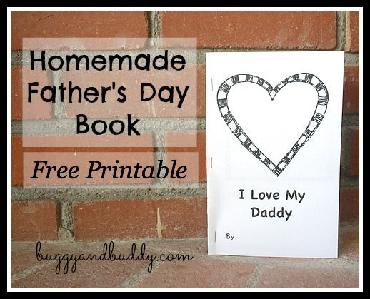 Homemade Father's Day Book for Kids {Free Printable}