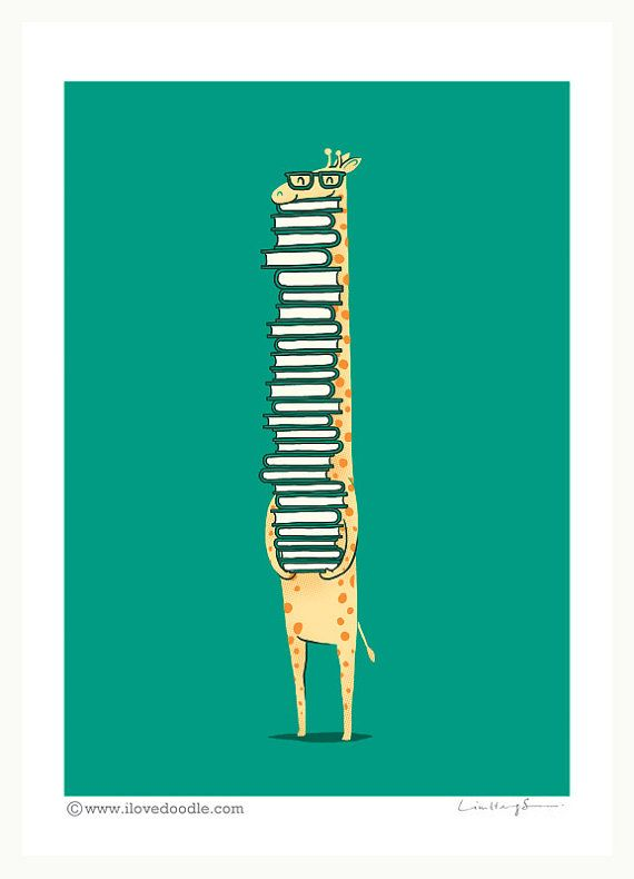 A Book Lover art print by ilovedoodle on Etsy