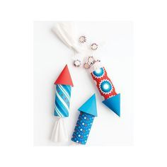 Summer Living Fourth of July Crafts and Memorial Day Crafts found on Polyvore