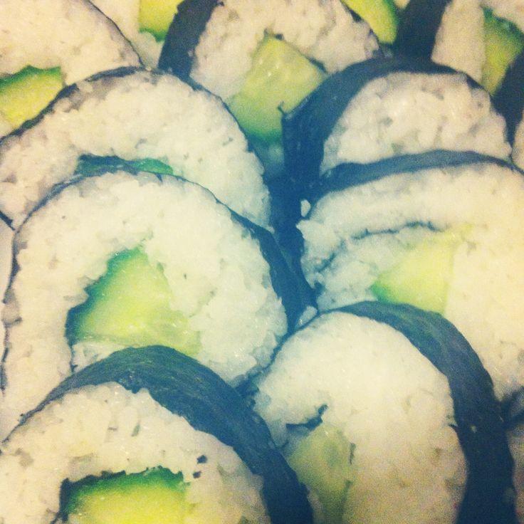Komkommer sushi / Vegan sushi / Veganistische sushi / cucumber sushi