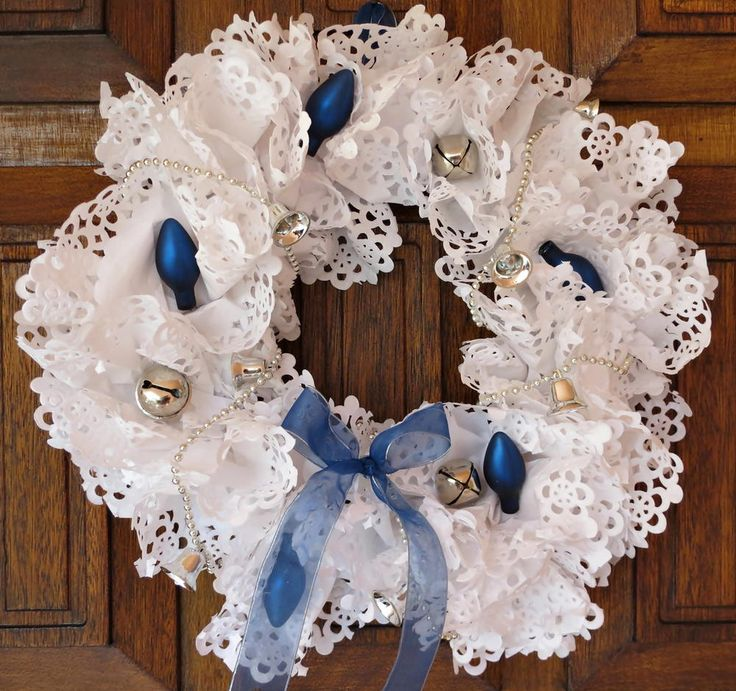 Christmas Craft Ideas With Paper Doilies : Best images about winter wreath on