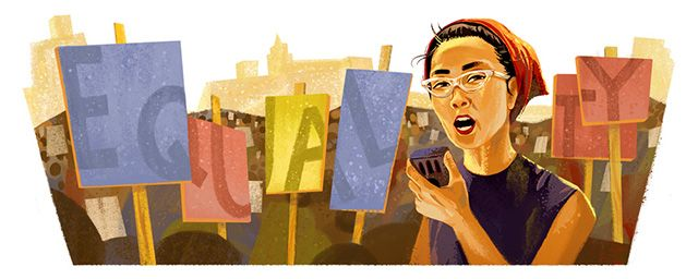 Today+on+the+Google+home+page+is+a+special+Google+logo,+aka+Doodle+for+the+95th+birthday+of+Yuri+Kochiyama.  Yuri+Kochiyama+was+an+activist+who+fought+for+African+American,+Latino...