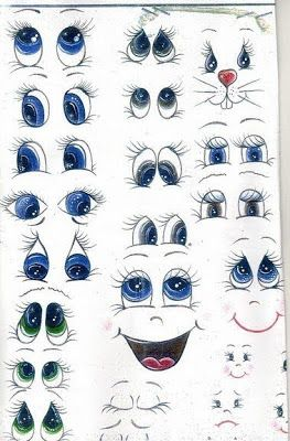 An adorable choice of cute eyes and faces for your favorite doll.